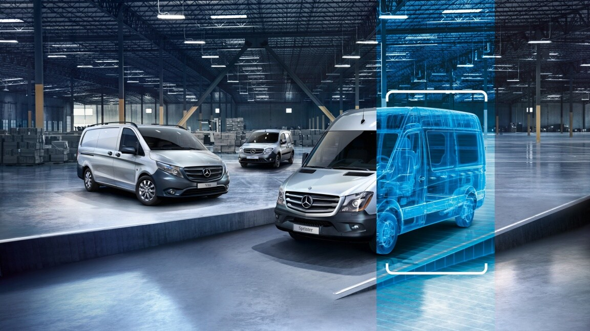 Trois Mercedes-Benz occassions.