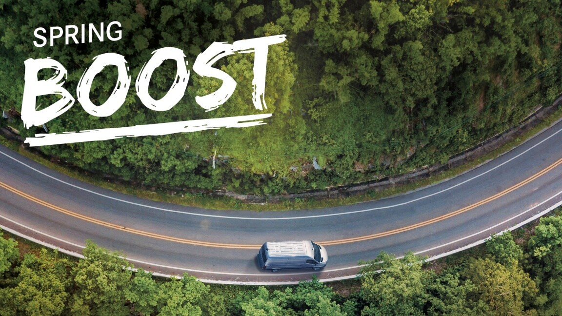 La couverture du Mercedes-Benz Vans BOOST Magazine.