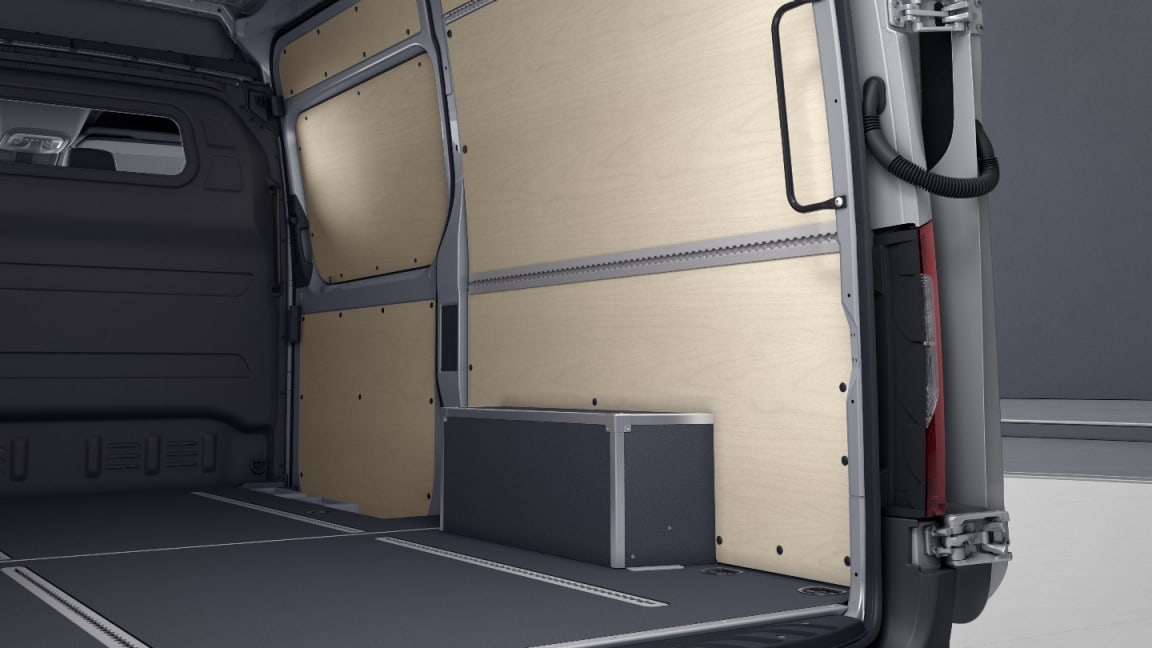 Mercedes-Benz Sprinter Fourgon, passage de roue supportant une charge.
